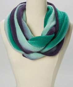 Take a look at this Emerald & Navy Ombré Infinity Scarf by The Accessory Collective on #zulily today!