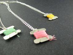 Spool Necklace by KortniSheely on Etsy, $30.00
