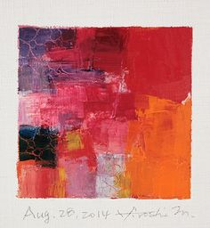 Aug. 28, 2014 abstract oil painting by Hiroshi Matsumoto