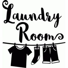 Silhouette Design Store - View Design #93931: laundry room vinyl decor