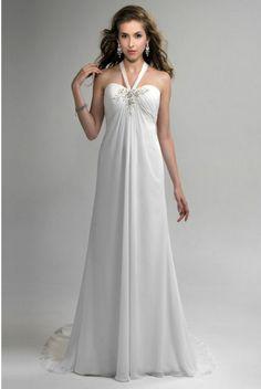 Robe de mariée pas cher  Robe de soirée pas cher - Bretelle au cou ...