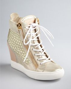 Wedge sneekers are normally not my thing, but I'd rock these:::Giuseppe Zanotti Wedge Sneaker Booties - Lorenz Converse Wedge Sneakers, Sneaker Heels, Wedge Shoes, Shoes Heels, Wedged Sneakers, Converse Outfits, Fly Shoes, Pretty Shoes, Cute Shoes