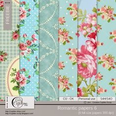 FREE CAJOLINE-SCRAP: Freebie - CU Romantic papers 6