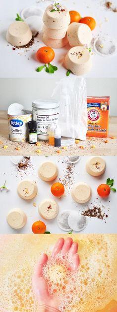 Sweet Orange Creamsicle Bath Bombs.