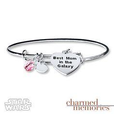 Charmed Memories Bangle Star Wars Mom Sterling Silver
