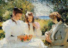 "Frank Weston Benson - ""Portrait of My Daughters"", 1907"