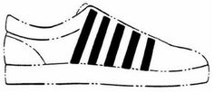 The mark consists of five diagonal stripes on the side of a shoe, the middle stripe being slightly wider than the other four stripes. The broken lines in the drawing that depict a shoe are included merely to show the position of the mark and are not part of the mark.