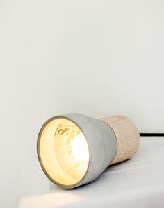 Cement Wood Pendelleuchte / Ø 13 cm