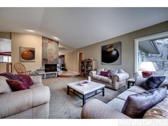 Edina Schools. Quality custom built walkout rambler w/recent updates. Lovely spaces. 3 FPLCs, 2+ family rooms! Large studio ideal for a home business, workshop, gym.