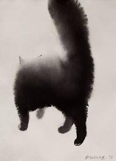 "Saatchi Art Artist Endre Penovác; Painting, ""Cat VI."" #art"