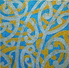 Ruben Paterson's Admiral Tangaroa (glitter on canvas) love his work! Glitter On Canvas, Glitter Paint, Artists For Kids, Art For Kids, Art Maori, Maori Symbols, Maori Patterns, Maori Designs, New Zealand Art