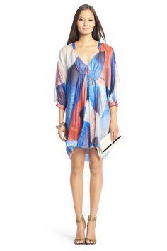 Fluerette Printed Chiffon Kaftan Dress by DVF