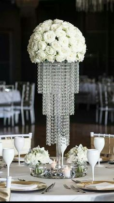 """Universe of goods - Buy """"Wedding Crystal Table Centerpiece Flower Stand"""" for only 535 USD. Unique Wedding Centerpieces, Wedding Arrangements, Flower Centerpieces, Wedding Decorations, Wedding Ideas, Diy Wedding, Wedding Inspiration, Chandelier Centerpiece, Blue Chandelier"""