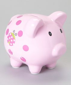 $7.99 Baby Essentials Pink Ladybug First Piggy Bank