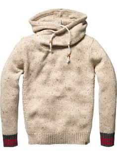 "Not sure what makes this a ""man's"" sweater, but it looks super comfy so I think I'll knit myself a ladies version.."