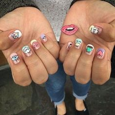 Expand fashion to your nails with the help of nail art designs. Donned by fashionable stars, these types of nail designs can incorporate instantaneous elegance to your wardrobe. Nail Swag, Love Nails, Pretty Nails, Mens Nails, Crazy Nail Designs, Nails For Kids, Nagel Gel, Types Of Nails, Cute Acrylic Nails