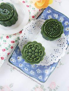 绿茶芋泥月饼