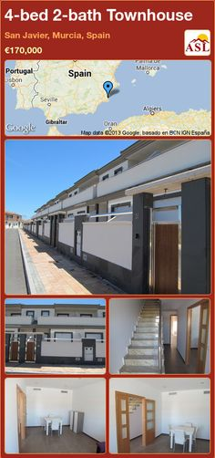 4-bed 2-bath Townhouse in San Javier, Murcia, Spain ►€170,000 #PropertyForSaleInSpain
