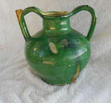 ancienne cruche terre cuite verniss 19 eme jarre poterie huile eau pot graisse cruches. Black Bedroom Furniture Sets. Home Design Ideas