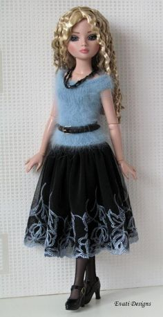 Ellowyne Skirt, Top and Accessories by *evati* via ebay, SOLD 9/29/14.  $45.99
