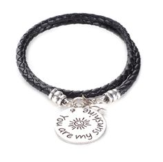 "Boho-Chic ""You Are My Sunshine"" Engraved Bracelet - $9.99. https://www.tanga.com/deals/b1f88d173bda/boho-chic-you-are-my-sunshine-engraved-bracelet"