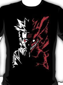 Naruto Shippuden 9 Tails Kyuubi Demon Fox Kurama Cosplay Anime T Shirt T-Shirt