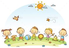 Buy Happy Cartoon Kids Outdoors on a Green Meadow by katya_dav on GraphicRiver. Happy cartoon kids outdoors on a green meadow, vector Happy Cartoon, Cartoon Kids, Drawing For Kids, Art For Kids, Back Art, Cute Pins, Free Vector Art, Clipart, Graphic Illustration