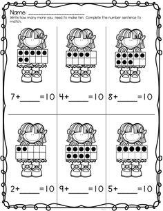 Making Ten Freebie ten frames Math Classroom, Kindergarten Math, Teaching Math, Teaching Music, Maths, Math Worksheets, Math Resources, Math Activities, Math Stations