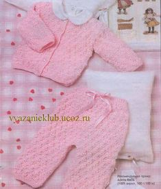 Жакет и штанишки для девочки 0-3 месяца - Для детей до года - Каталог файлов - Вязание для детей Baby Knitting, Crochet Baby, Knit Crochet, Knit Baby Dress, Baby Items, Charity, Free Pattern, Knitting Patterns, Diy And Crafts