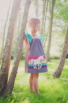 Girls Magic Rainbow UNICORN Dress... Sizes 2T by lillipopsdesigns, $64.00