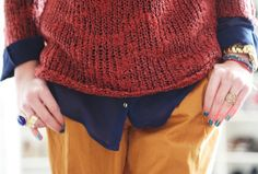 Winter Fashion 2013. A close up look on how to colorblock in winter. ::M::