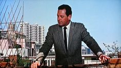 Film: Suzie Wong 1960, William Holden on Mid-levels rooftop with Breezy Court in the background.
