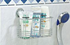 Everloc x x Suction Cup Caddy Bathroom Storage, Kitchen Storage, Bathtub Accessories, Bathtub Shower, Enamel Paint, Storage Organization, Organizing, Chrome Finish, Kitchen And Bath