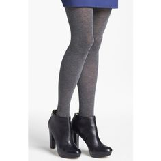 Nordstrom 'Love' Sweater Tights ($28) ❤ liked on Polyvore featuring intimates, hosiery, tights, charcoal, nordstrom pantyhose, textured tights, nordstrom tights and nordstrom hosiery