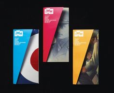 folded origami graphic design indesign brochure branding imperial war museum…