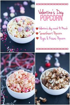 Looking for the perfect Valentine's Day treat? How about some festive popcorn in one of three fun mixes! Valentine's Day Crunch N Munch combines popcorn with conversation hearts candy, hearts sprinkles, white candy melts, and nuts. Hugs and Kisses Popcorn throws together popcorn with some of your favorite sweets: Hershey's Hugs and Kisses! Sweetheart Popcorn marries popcorn with white chocolate chips, red food coloring, and heart-shaped sprinkles. Visit eBay for these yummy popcorn recipes!