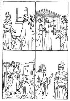 Jesús sana al siervo de un soldado romano   Lucas 7:1-10   Jesús fue a Capernaúm. Y el siervo un centurión, a quien éste apreciaba mucho...