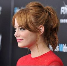 Emma Stone: Bangs and a high pony