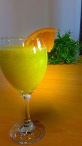 Smoothie met sinaasappelsap