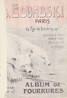 Album de fourrures.  1906. Metropolitan Museum of Art (New York, N.Y.). Thomas J. Watson Library. Trade Catalogs.  #beasties #polar bears | I will follow your footsteps through the snow.