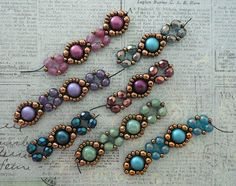 Crafty Inspirations: Playing with my Beads.Bubble Bands Samples -Linda& Crafty Inspirations: Playing with my Beads. Beaded Bracelet Patterns, Beaded Earrings, Beading Patterns, Seed Bead Bracelets, Jewelry Bracelets, Jewellery, Handmade Beads, Handmade Jewelry, Bijoux Diy