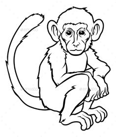 Stylized Monkey Illustration