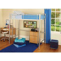 your zone metal loft twin bed with BONUS mattress: Kids' & Teen Rooms : Walmart.com
