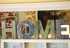 DIY~ Faux Barnwood Letters~ Cover unfinished Chipboard or Cardboard letters with weathered wood scrapbook paper.