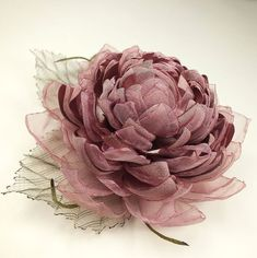 Купить Ветреный Лотос. Брошь - цветок из ткани - розовый кварц, розовый, зеленый, листья, цветы