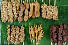 Top 10 dishes to get in Asia's 10 greatest street food cities including Hanoi & Manila Pinoy Street Food, Filipino Street Food, Pinoy Food, Filipino Food, Philippine Cuisine, Filipino Recipes, Skewers, Asparagus, Seafood