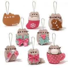 Gund Surprise Mini Plush PUSHEEN HOLIDAY ORNAMENT Blind Box Series #2 NEW