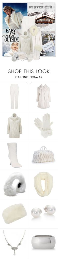 """Winter Fur"" by cathy1965 ❤ liked on Polyvore featuring Topshop, Lipsy, Phase Eight, Isotoner, Casadei, GLAMOURPUSS, dELiA*s, Linea, Mikimoto and 1928"