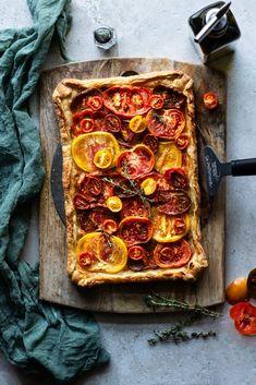 Heirloom Tomato Tart, Heirloom Tomatoes, Pepperoni, Fall Recipes, Provence, Mustard, Crisp, Vibrant Colors, Shell