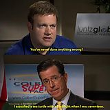 Colbert confesses to his wrongdoings